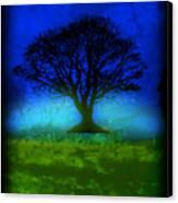 Tree Of Life - Blue Skies Canvas Print by Robert R Splashy Art