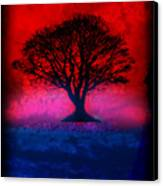 Tree Of Life - Red Sky Canvas Print