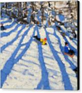 Tree Shadows Morzine Canvas Print by Andrew Macara