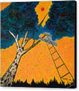 Treehouse Canvas Print by Randall Weidner