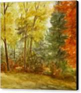 Trees At Fall Canvas Print