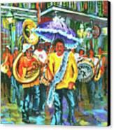 Treme Brass Band Canvas Print