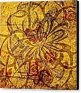 Tribal Flower Canvas Print by Paulo Zerbato