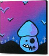 Tricky Zombie Mushroom Canvas Print by Jera Sky