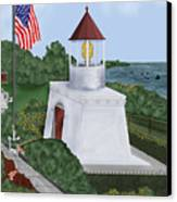 Trinidad Memorial Lighthouse Canvas Print