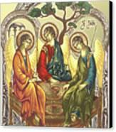 Trinity After Rubliov Canvas Print by Iosif Ioan Chezan