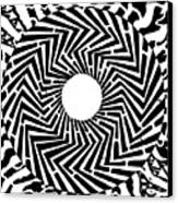Trippy Optical Illusion Swirly Maze  Canvas Print