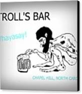 Troll's Bar Chapel Hill Nc Canvas Print
