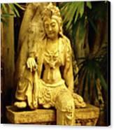 Tropical Buddha Canvas Print by Cheryl Young
