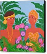 Tropical Flirtation Canvas Print