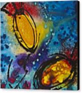 Tropical Flower Fish Canvas Print by Sharon Cummings