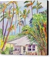 Tropical Waimea Cottage Canvas Print by Marionette Taboniar