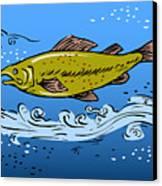 Trout Fish Swimming Underwater Canvas Print by Aloysius Patrimonio