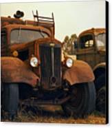 Trucks Under Smoke Canvas Print