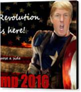 Trump Revolution Canvas Print by Guy  Cannon