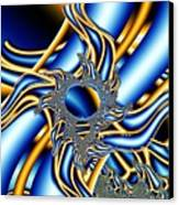 Tubes Of Blue And Gold Canvas Print