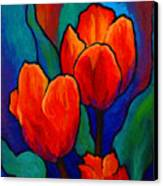 Tulip Trio Canvas Print