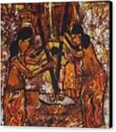Tumbuk Padi Canvas Print