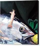 Tuna Head In Venice Canvas Print