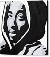 Tupac Canvas Print by Michael Ringwalt