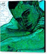 Turquoise Man Canvas Print