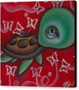 Turtle Canvas Print by  Abril Andrade Griffith