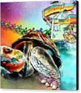 Turtle Slide Canvas Print