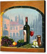 Tuscan Arch Wine Grape Feast Canvas Print by Italian Art