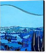 Tuscan Blue View Canvas Print