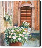 Tuscan Courtyard Canvas Print