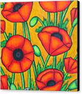 Tuscan Poppies Canvas Print by Lisa  Lorenz