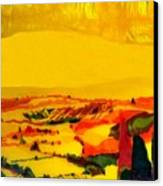 Tuscan View In Resin Canvas Print by Jason Charles Allen