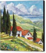 Tuscan Villas Canvas Print