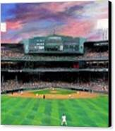 Twilight At Fenway Park Canvas Print