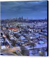 Twilight On Strawberry Hill Canvas Print by Don Wolf