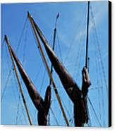 Twin Mast Canvas Print by Terence Davis