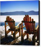 Two Adirondack Chairs  Canvas Print