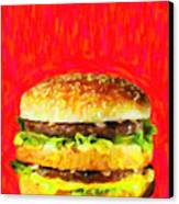 Two All Beef Patties Canvas Print