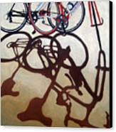 Two Bicycles Canvas Print by Linda Apple