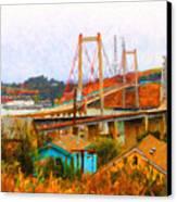 Two Bridges In The Backyard Canvas Print