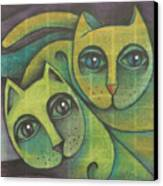 Two Cats  2000 Canvas Print