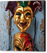 Two Decortive Masks Canvas Print
