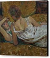 Two Friends Canvas Print by Henri de Toulouse-Lautrec