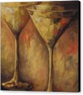 Two Golden Martinis  Canvas Print