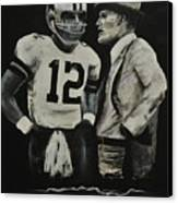 Two Of The Greastest Minds In Pro-football Canvas Print by Robert Ballance