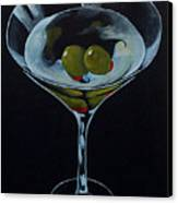 Two Olive Martini Canvas Print