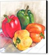 Two Peppers Canvas Print