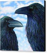 Two Ravens Canvas Print