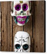Two Skull Masks Canvas Print