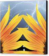 Two Sunflower Lightning Storm Canvas Print by James BO  Insogna